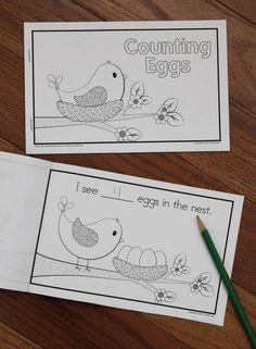 Counting Eggs:  Bird Emergent Reader Freebie