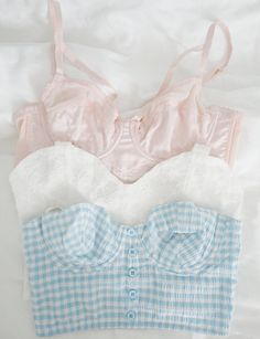 Underwear as outerwear for a refreshing seaside getaway in pastel shades if you are wanting that girl next door look. Sweet and innocent.