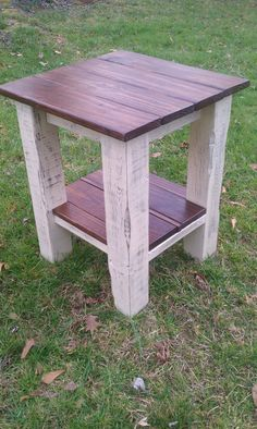 Distressed End  Table by SouthernIngenuity on Etsy, $150.00