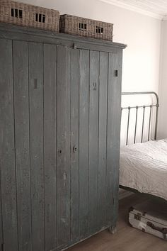weathered grey cupboard