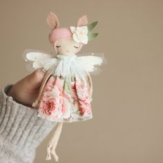 I love this little fairy. libertylavenderdolls.com