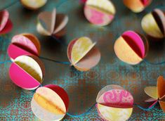 lovely paper garland. Photo by Laurie Cinotto for Allison Abad of Hambly Screen Prints