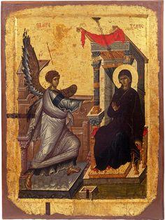 The Annunciation. Early 14th c. ...simply amazing. Icon gallery, Ohrid, FYRoM.