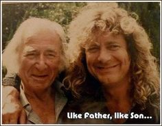 Robert Plant and his father