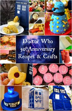 Treats & Trinkets: Doctor Who Round Up ~ 50 Recipes & Crafts for the Annive. - Treats & Trinkets: Doctor Who Round Up ~ 50 Recipes & Crafts for the Anniversary - Doctor Who Birthday, Doctor Who Party, Dr Who, Party Planning, 50th Anniversary, Just In Case, Party Time, Birthday Parties, Birthday Ideas