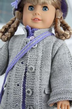 Doll knitting patterns for American Girl doll
