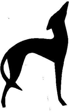 silhouette italian greyhound