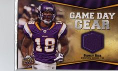 2009 Upper Deck Game Day Gear Sidney Rice #Nfl-sr by upper deck. $5.00. game used purple swatch