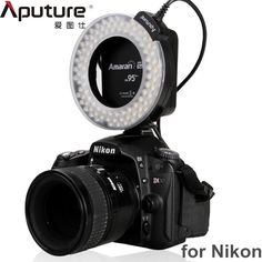 42.88$  Buy now - http://ali5q3.shopchina.info/go.php?t=32793429870 - Aputure HN100 CRI 95+ Macro Halo LED Ring Flash light with adapters for Nikon D7100 D7000 D5200 D5100 D800 D700 D600 D90 42.88$ #magazineonline