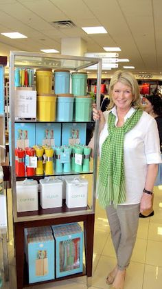 Here I am standing by my beautiful Color Gear kitchen items from the Martha Stewart Collection at the Macy's at Millenia Mall in Orlando, FL...