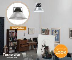 De estilo moderno e industrial. Perfecta como iluminación de ambiente en un espacio de trabajo.