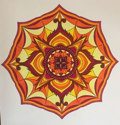 """From My Colorit """"Mandalas, Volume 1"""". Colored by B. Holmes using My Colorit acid/based markers."""