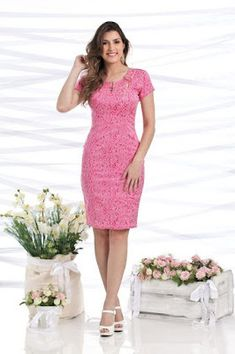 Vestidos de moda casuales Cute Dresses, Casual Dresses, Fashion Dresses, Girls Dresses, Formal Dresses, Classy Dress, Classy Outfits, Office Outfits, Evening Dresses