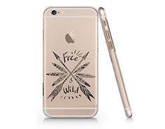 """Free & Wild"" Arrow Clear Transparent Plastic Phone Case for iphone 6 6s_ SUPERTRAMPshop SUPERTRAMPshop"