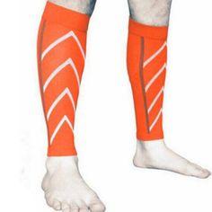9c518c47121798 Men & Women Graduated Shin Splint & Calf Pain Relief Calf Compression Sleeve  For Running -Orange