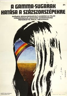 A gammasugarak hatása a százszorszépekre (1972) The Effect of Gamma Rays on Man-in-the-Moon Marigolds Hungarian vintage movie poster. Artist by ifj. Imre István