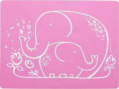 Meal-mat : Elephant Hugs - Pink