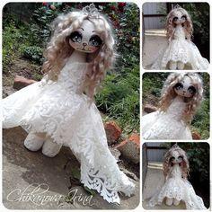 Коллекционные куклы ручной работы. Ярмарка Мастеров - ручная работа. Купить Кошечка невеста. Рост 60 см. Handmade. Белый