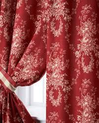french country red curtains - Horchow
