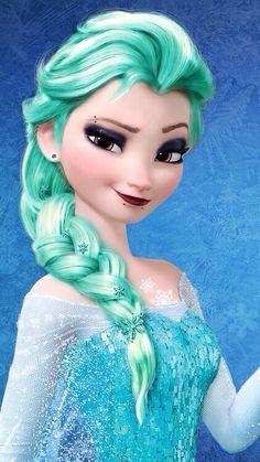 Punk Disney: Elsa with Snowflakes in her hair. All Disney Princesses, Disney Princess Drawings, Princess Cartoon, Disney Princess Pictures, Disney Princess Quotes, Disney Drawings, Princesa Disney Frozen, Disney Frozen Elsa, Frozen Movie