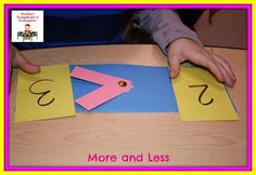 practice number recognition and greater than less than with this hands on activity!