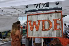 This homemade WDE sign welcomed fans to our best overall tailgate, TNT XIII! - vs. San Jose State 9/6/2014
