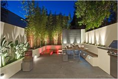 built in outdoor seating | Patio Contemporary Melbourne built in bench built in planter deck