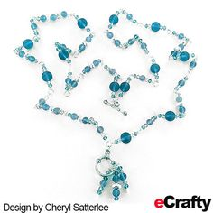 FREE TUTORIAL #seaglass and #crystalbeads necklace from #eCrafty.com. Make this long rope length #necklace that will convert to a #choker in an instant. eCrafty.com carries a wonderful selection of #seaglassbeads in lots of colors and sizes. #crafts #beads #diy #etsy #handmade #diynecklace #jewerlytutorial #beading #ecrafty #dollarsale #dollarbeads #99centsale To see how Cheryl made this necklace, along with color variations and a clickable supplies list, keep reading below! Diy Crafts Jewelry, Handmade Jewelry, Etsy Handmade, Jewelry Ideas, Sea Jewelry, Glass Jewelry, Rope Necklace, Beaded Necklace, Necklaces
