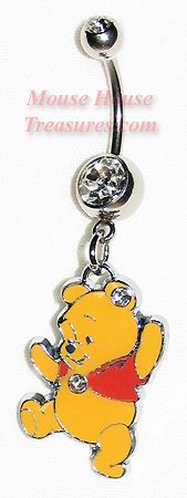 Winnie the Pooh Belly Ring that's what kind of belly ring I want but the ball in the middle changes color on what mood am in that day Cool Piercings, Piercing Ring, Belly Button Piercing, Piercing Ideas, Piercing Tattoo, Belly Button Rings, Disney Belly Rings, Cute Jewelry, Body Jewelry
