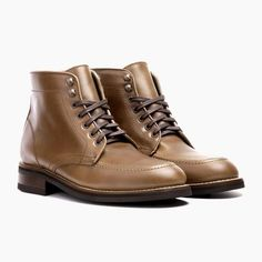 Natural classic plain toe lace up boot. Handcrafted for comfort and durability. Free shipping & returns.