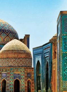 SAMARKAND, Uzbekistan: is one of the oldest inhabited cities in Central Asia. Prospering from its location on the Silk Road, Samarkand was the capital of a satrapy under the Persian Empire. The city was fought over by a succession of Persian & Turkish soldiers, & was occupied by Genghis Khan. In 1417, the mathematician sultan Ulugh Beg commanded the building of a madrasah school which was known for its science education as well as indoctrinating clergy.