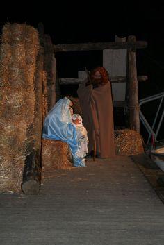 La primera escena del naixement, a l'embarcador del parc municipal de Tivenys, any 2007. Scene