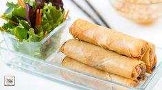 Como hacer Rollitos de primavera estilo Thai con salsa agridulce de caca...