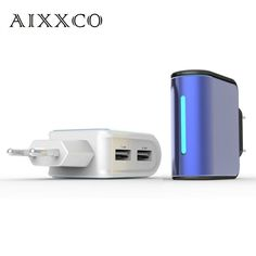 AIXXCO 2.4A Dual USB EU phone charger without cable Travel Charger for samsung iPhone HTC etc