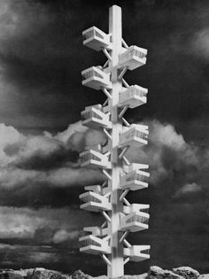 HORST PETER DOLLINGER TRANSPORTABLE CAPSULE TOWER / TRANSPORTABLER WOHNKABINENTURM, 1960s