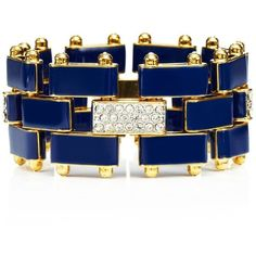 Enamel Link & Pave Flex Bracelet ($68) ❤ liked on Polyvore