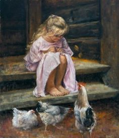 The Painting Art Art And Illustration, Painting & Drawing, Watercolor Paintings, Chicken Art, Country Art, Fine Art, Beautiful Paintings, Art Pictures, Vintage Pictures