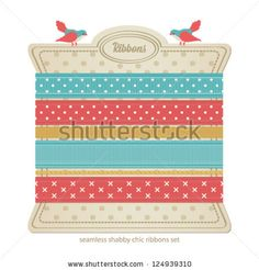 Seamless vector ribbons set. Shabby chic collection. by Togataki, via ShutterStock