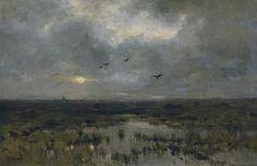"""The Marsh"" by Anton Mauve, 1885"
