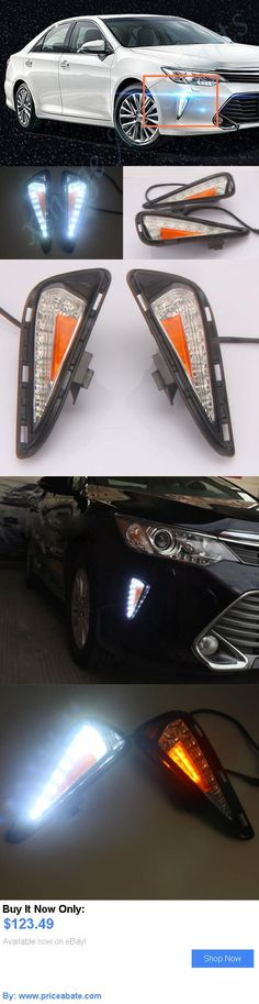 Motors Parts And Accessories 2pcs White Yellow Led Daytime Running Light Fog For Toyota