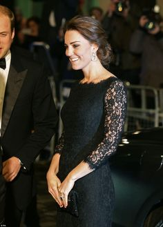 Kate's appearance gave little indication that she is nearly halfway through her second pregnancy, with only a very small bump beginning to show