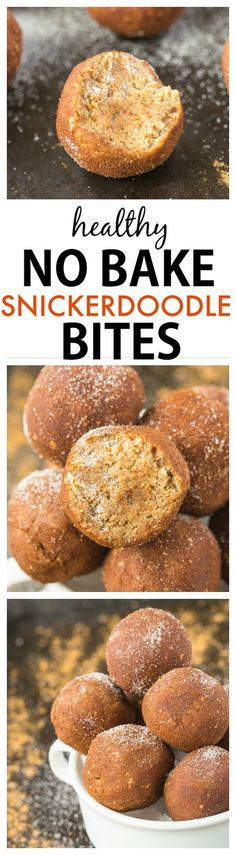 Healthy No Bake Snickerdoodle Bite Recipe- Soft, doughy and delicious, these bites are the perfect snack which takes 5 minutes! {vegan, gluten-free, paleo options)- thebigmansworld.com