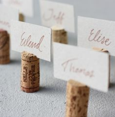 Wedding DIY Ideas: Wine Cork Name Tags