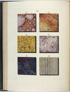 Wirsing, Adam Ludwig (1775) Mineralogy, Nature Illustration, Ludwig, Vintage Illustrations, Rocks And Minerals, Fabric Swatches, I Fall In Love, Georgian, Fossils