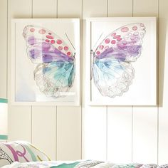 Framed Split ButterFly Wall Art | PBteen this is $150 from PBteen...holy moly that's a lot
