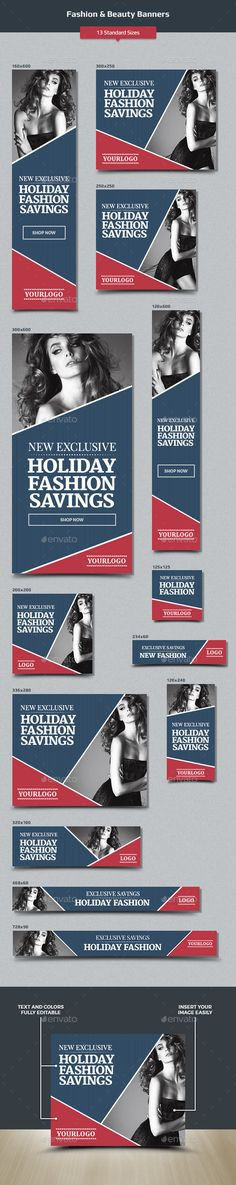 Fashion & Beauty Web Banners Tempalte #design #ads Download: http://graphicriver.net/item/fashion-beauty-banners/12901267?ref=ksioks
