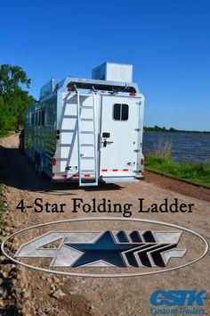 4-Star Folding Ladder- side rear load PC load 4h 4 horse LQ living quarters Outlaw Conversion