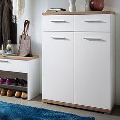Schuhkommode Texture I - Eiche Sonoma Dekor / Weiß