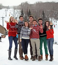 preppy New England winter-- looks more like ugly sweater day haha
