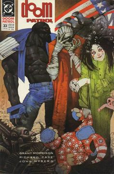 The cover to Doom Patrol #33 (1990), art by Simon Bisley